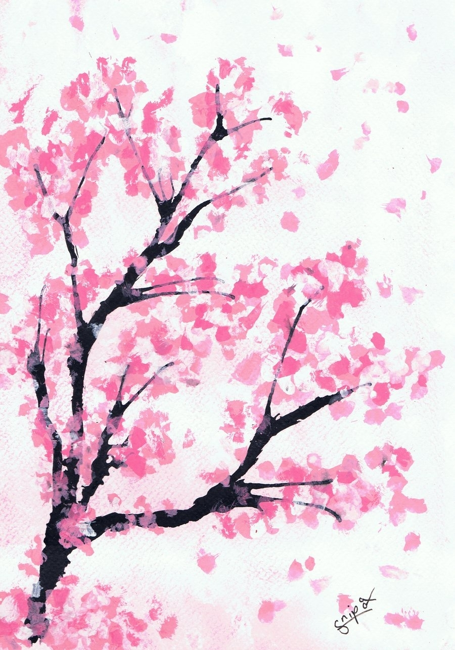cherry blossom drawing wallpaper at getdrawings | free for