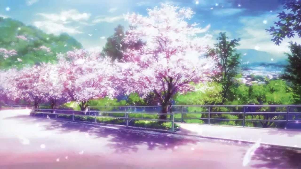 cherry blossoms animated wallpaper http://www.desktopanimated