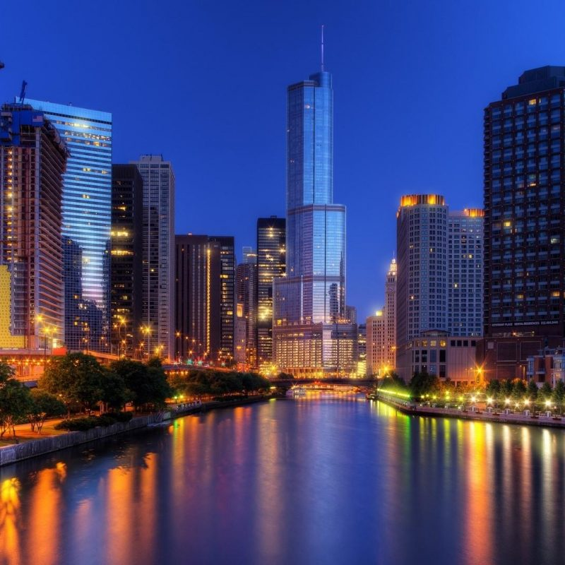 10 Top Chicago Skyline At Night Wallpaper FULL HD 1920×1080 For PC Desktop 2021 free download chicago cityscape with the chicago river at dusk wallpaper 800x800