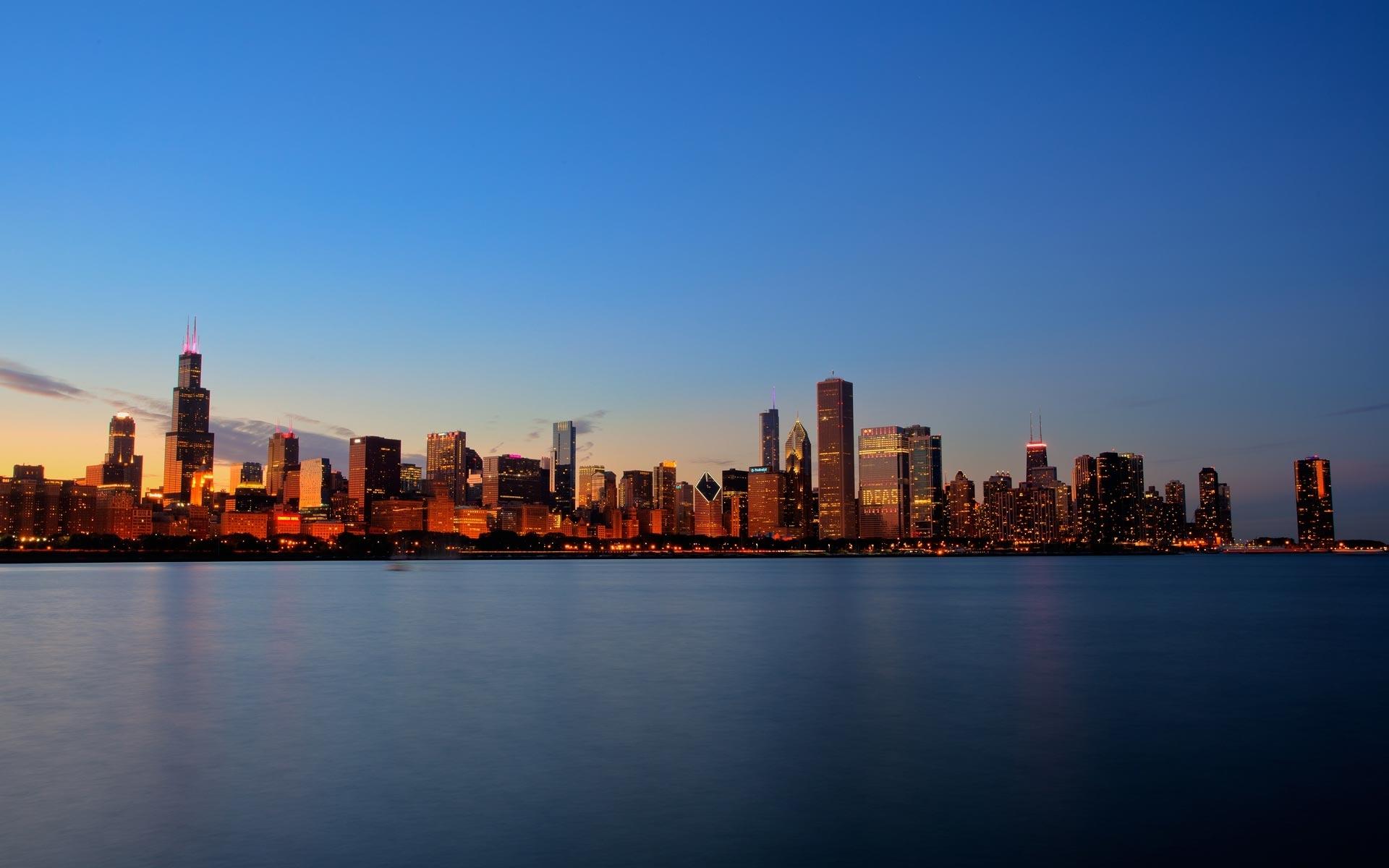 chicago skyline at night hd | chicago night skyline hd wallpaper