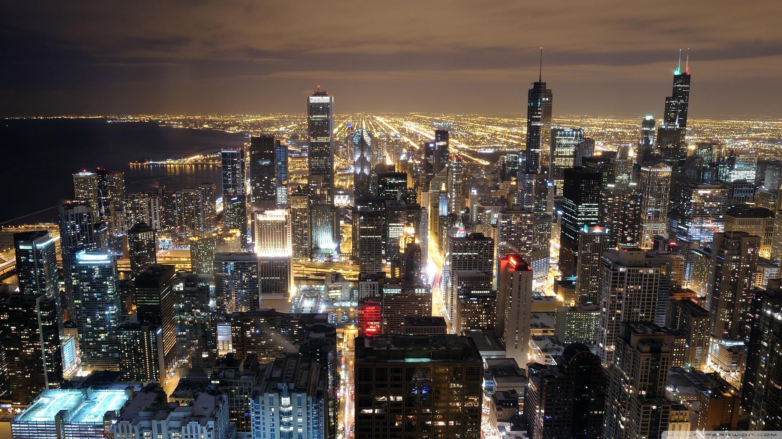 chicago skyline from john hancock ❤ 4k hd desktop wallpaper for 4k