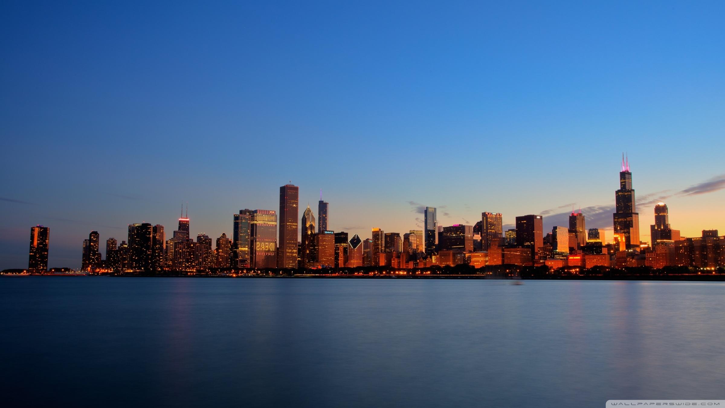 chicago skyline night ❤ 4k hd desktop wallpaper for 4k ultra hd tv