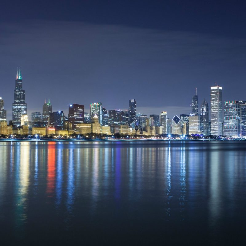 10 Top Chicago Skyline At Night Wallpaper FULL HD 1920×1080 For PC Desktop 2021 free download chicago skyline wallpaper download free hd wallpapers hd 800x800