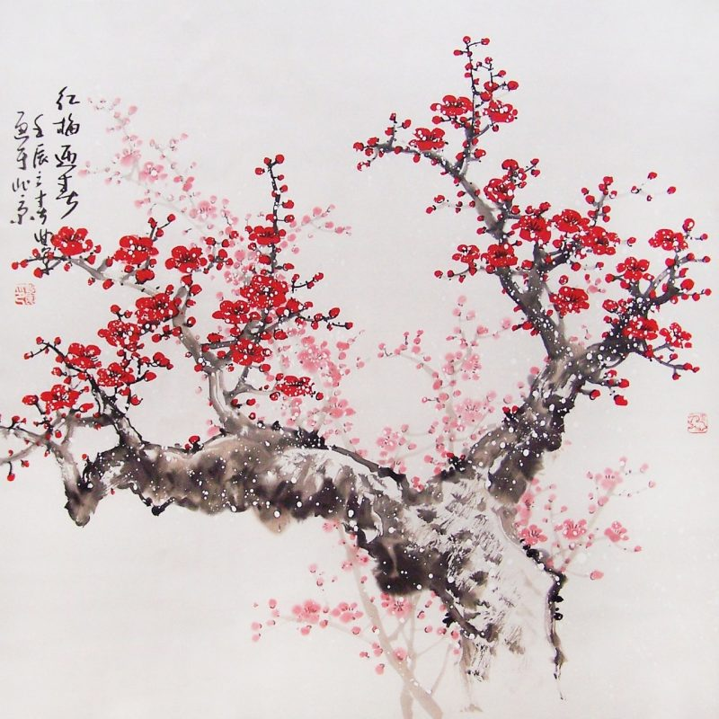 10 Most Popular Traditional Japanese Cherry Blossom Art Wallpaper FULL HD 1920×1080 For PC Desktop 2018 free download chinese cherry blossom drawing at getdrawings free for 800x800