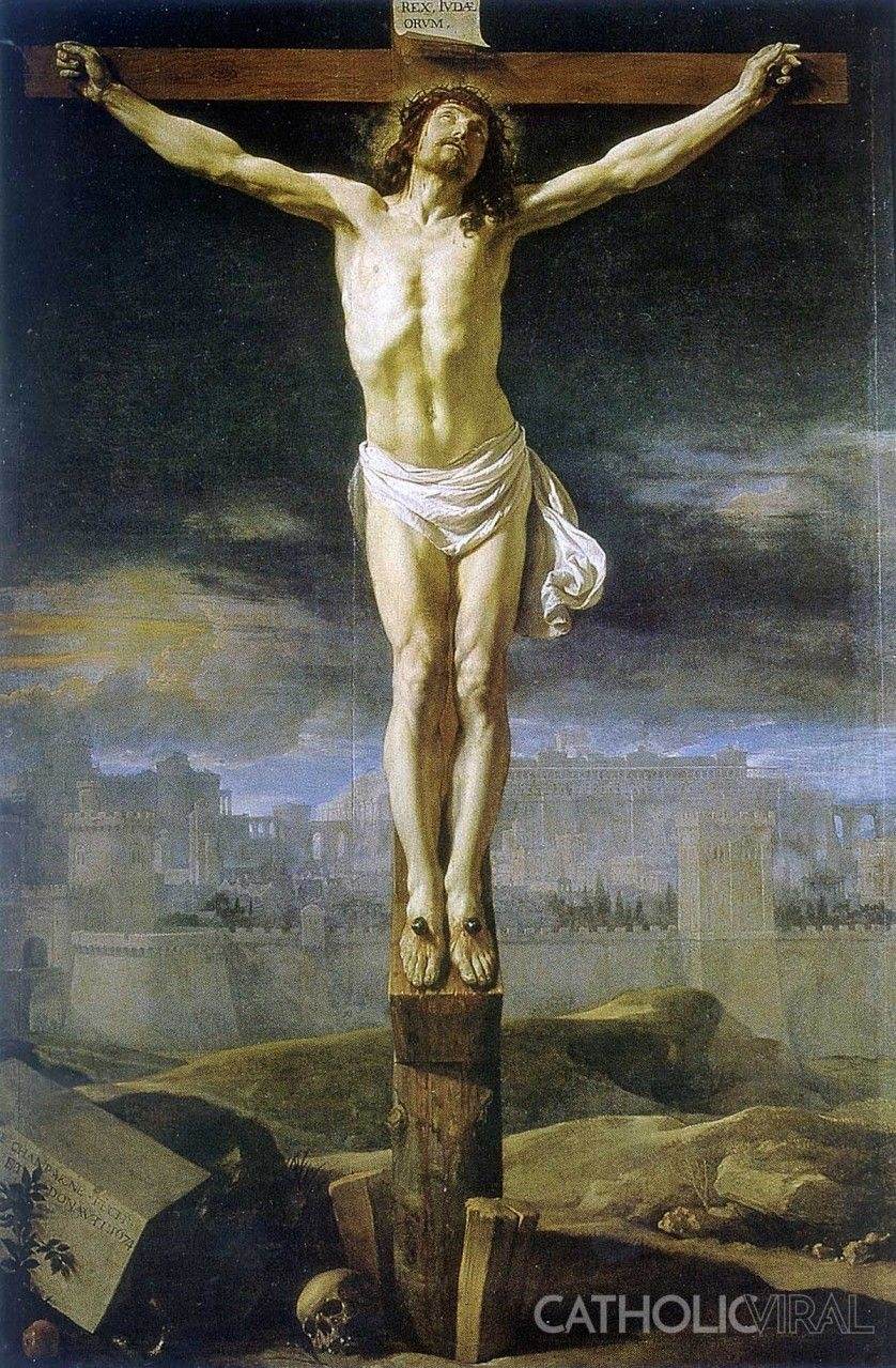 christ crucified - philippe de champaigne - 54 paintings of the