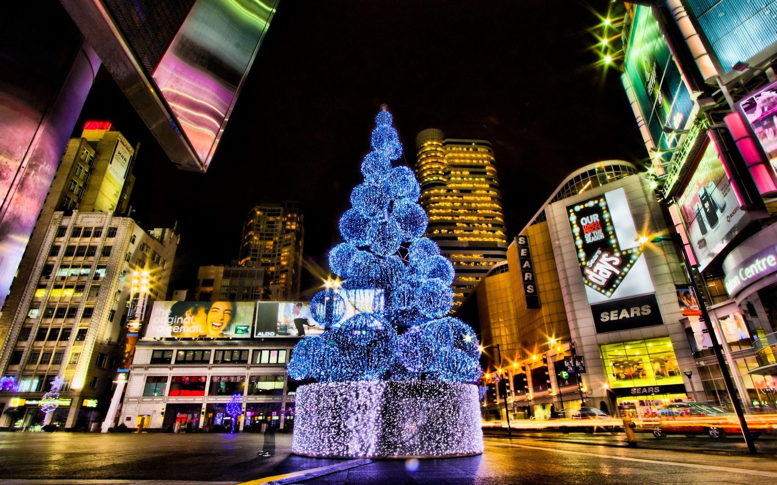 christmas city hd wallpaper - tree wallpaper city wallpaper