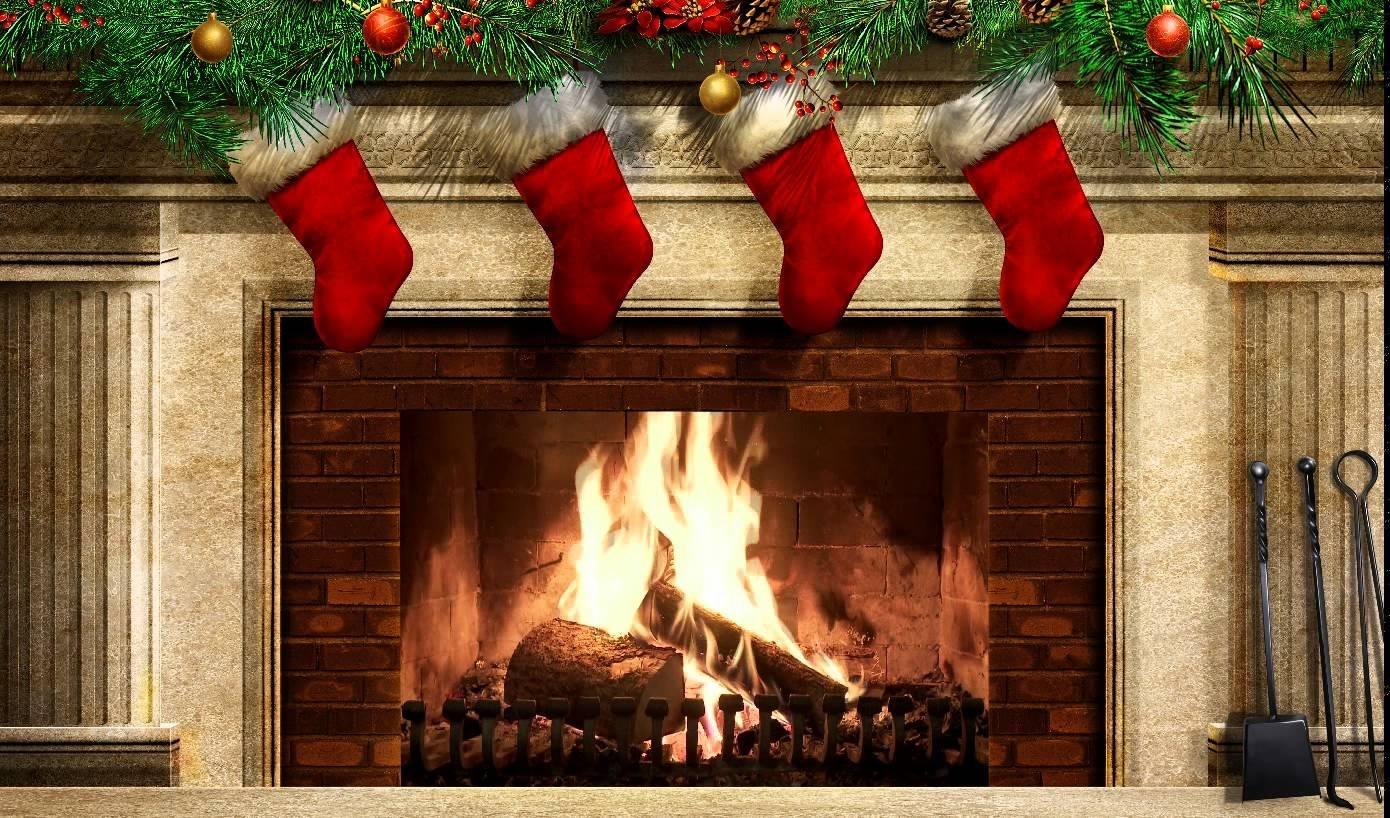 christmas fireplace ex v2 screensaver - youtube