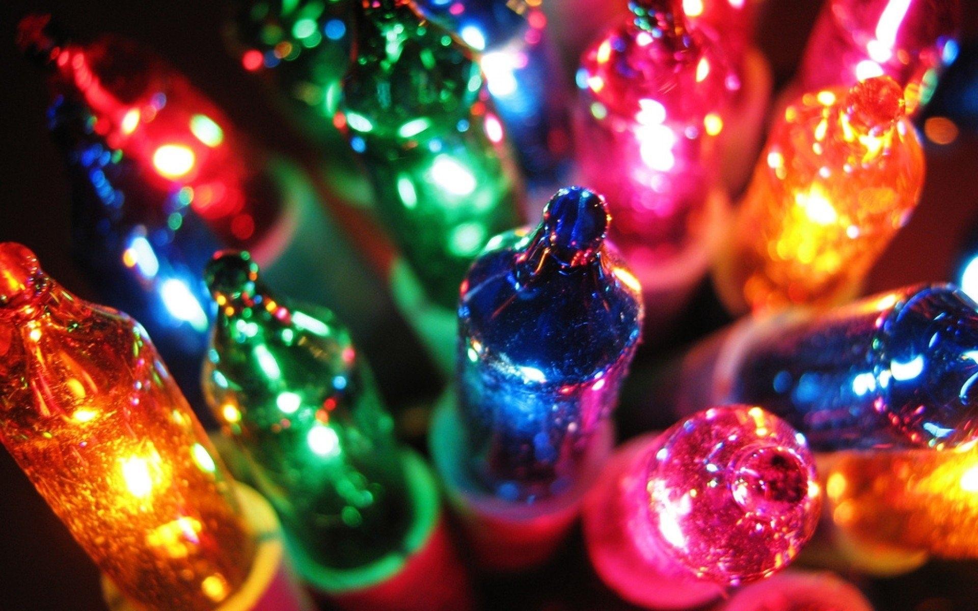 christmas lights desktop background | free design templates