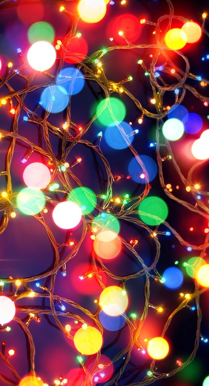 christmas lights iphone wallpaper | phone cases and wallpapers