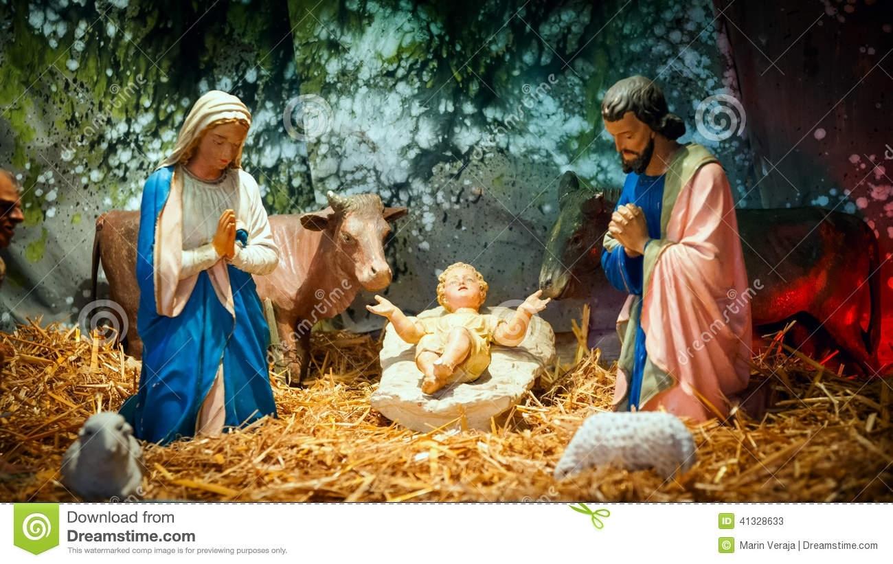 christmas nativity scene baby jesus mary joseph stock photos - 2,154