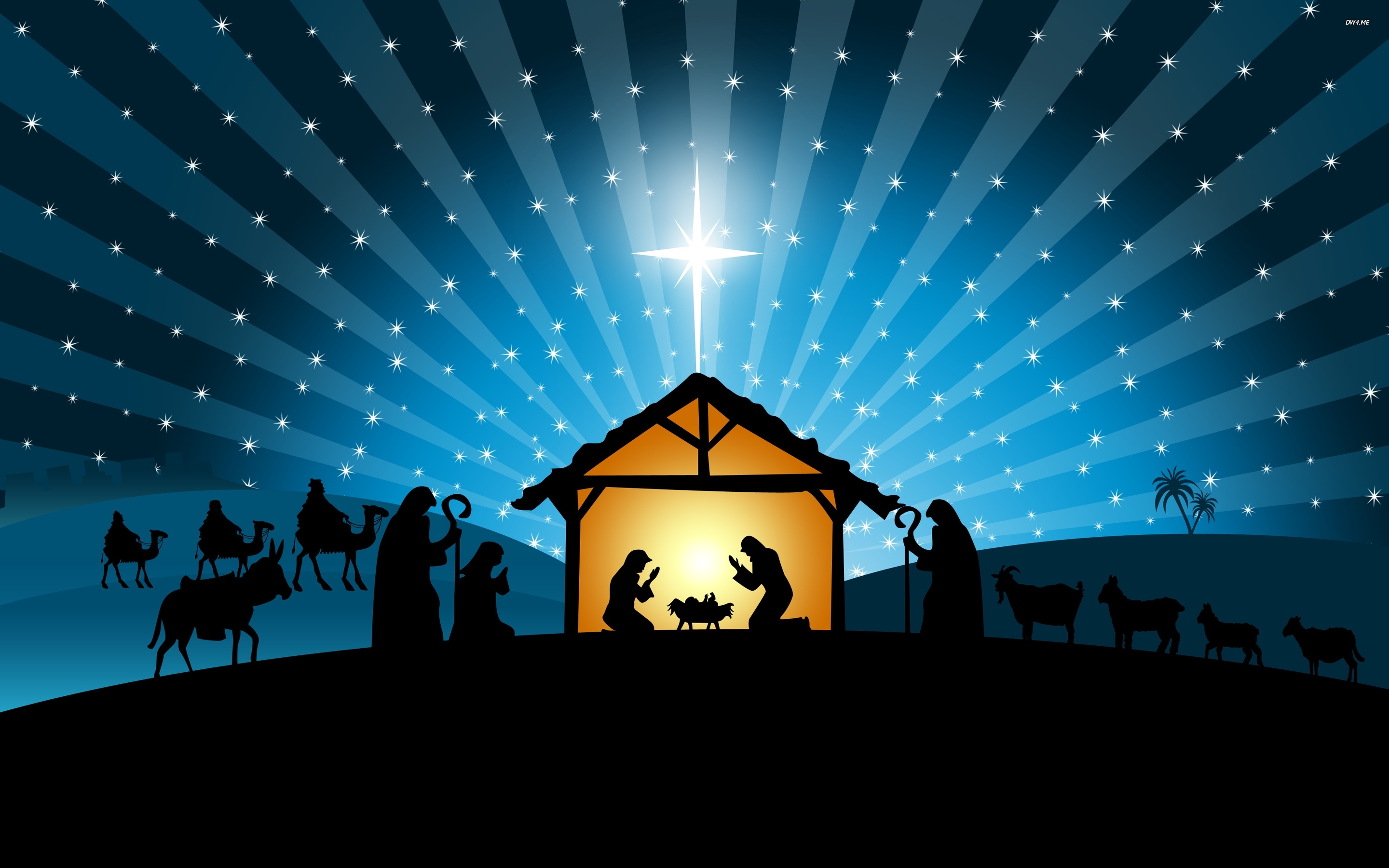 christmas nativity scene wallpaper - wallpapersafari | a very merry