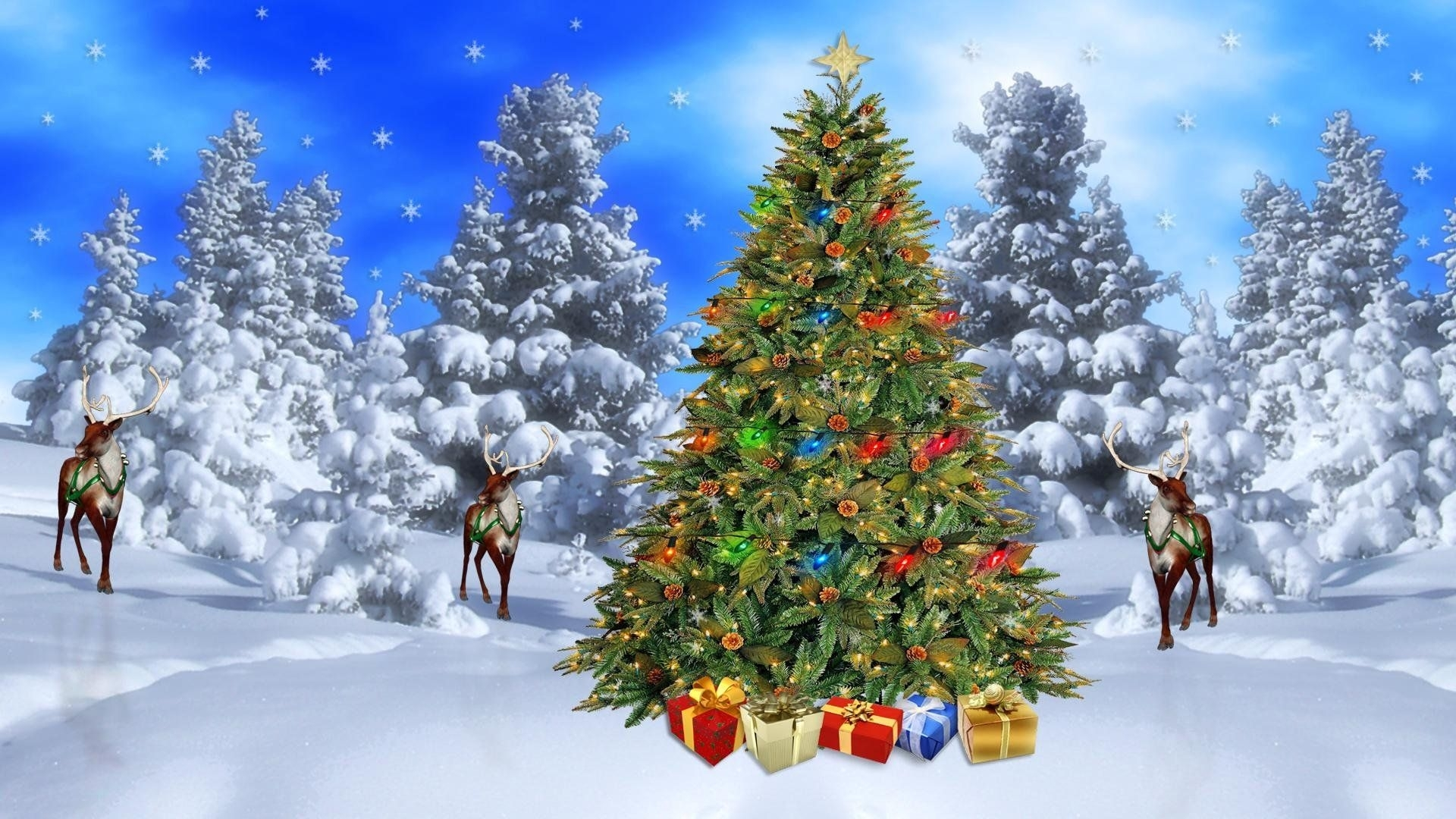 christmas scene backgrounds - wallpaperpulse | best games wallpapers