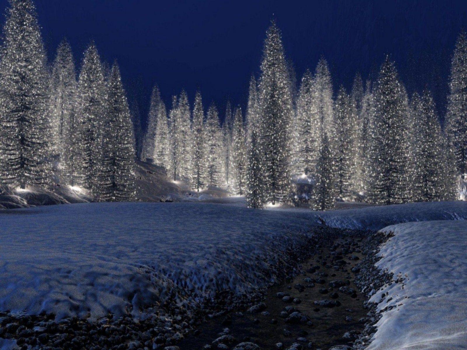 christmas scenery | free download hd snowy christmas scene wallpaper
