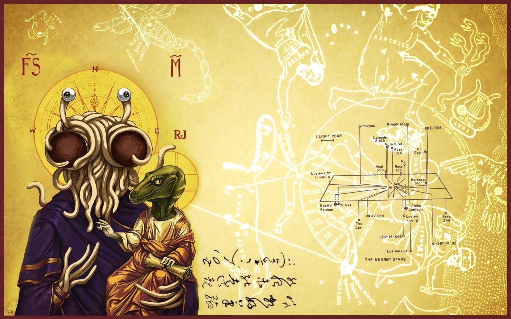 church of the flying spaghetti monster wallpaper   1680x1050   id