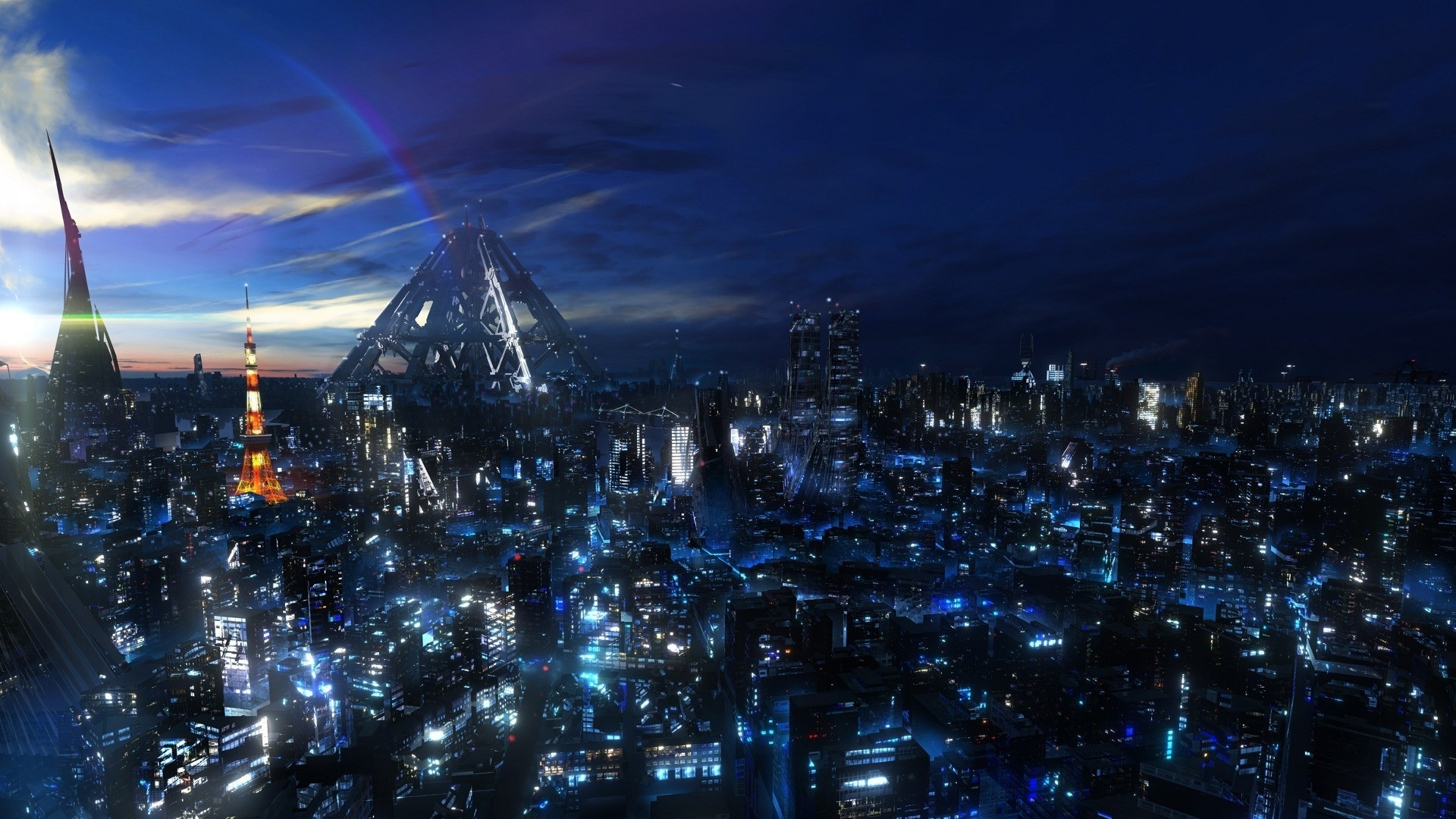 Title Cityscapes Anime Cities Futuristic City Wallpaper