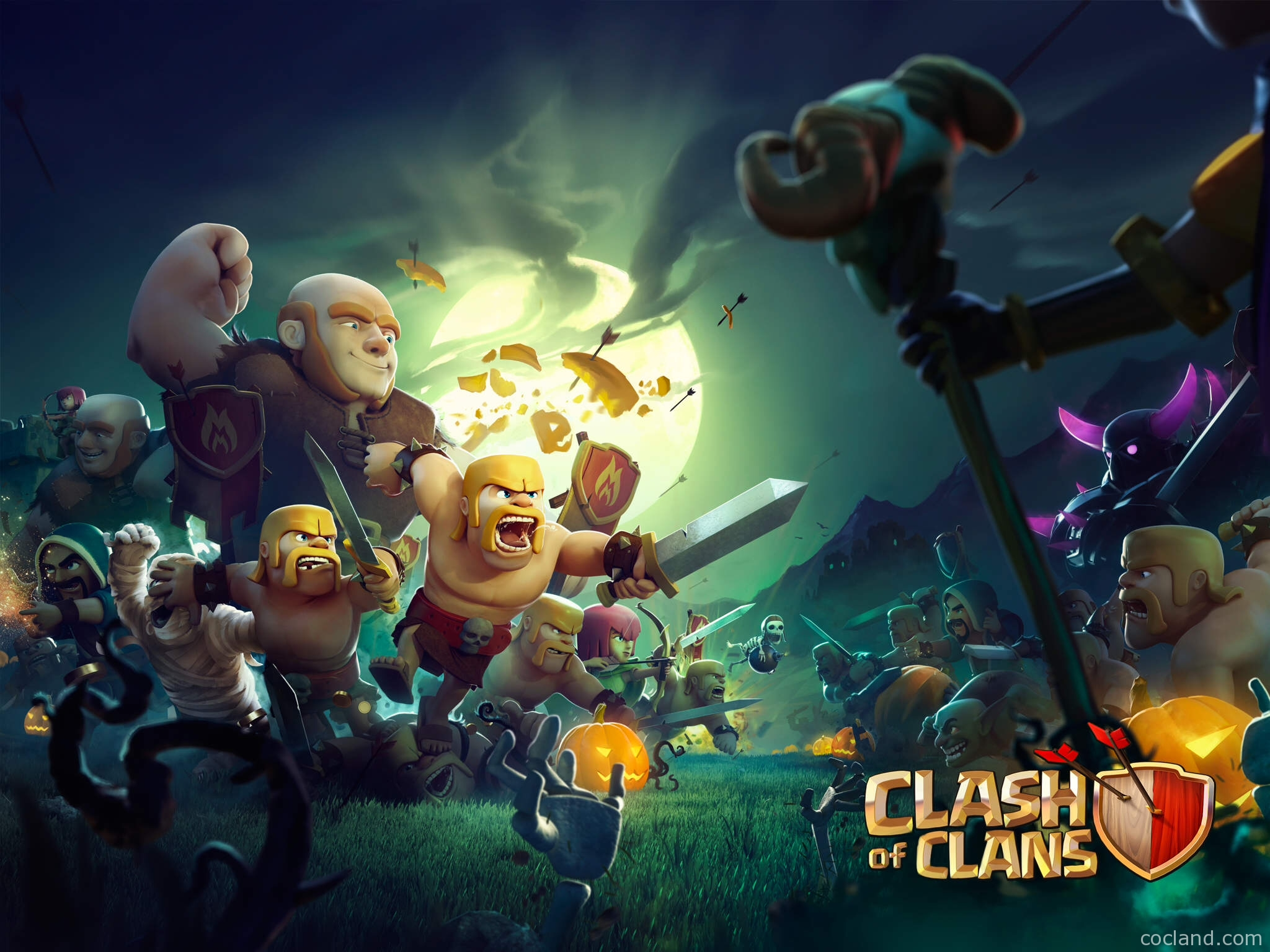 clash of clans wallpaper › heroes, units, city wallpaper and