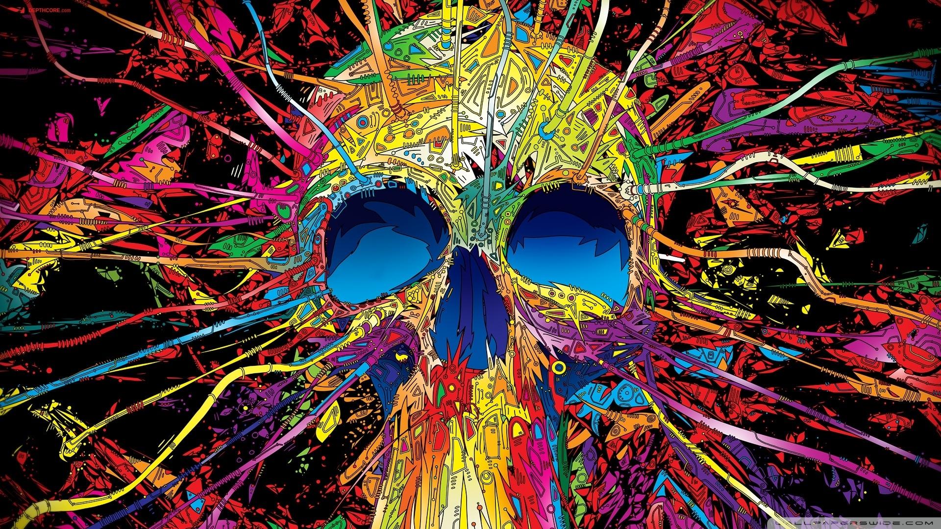 colorful skull ❤ 4k hd desktop wallpaper for 4k ultra hd tv