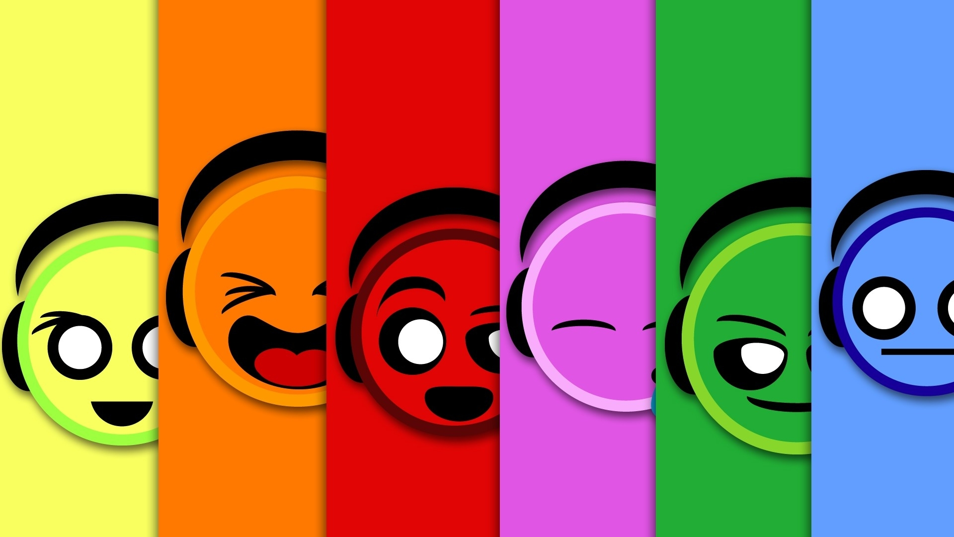 colorful smiley faces #6933437