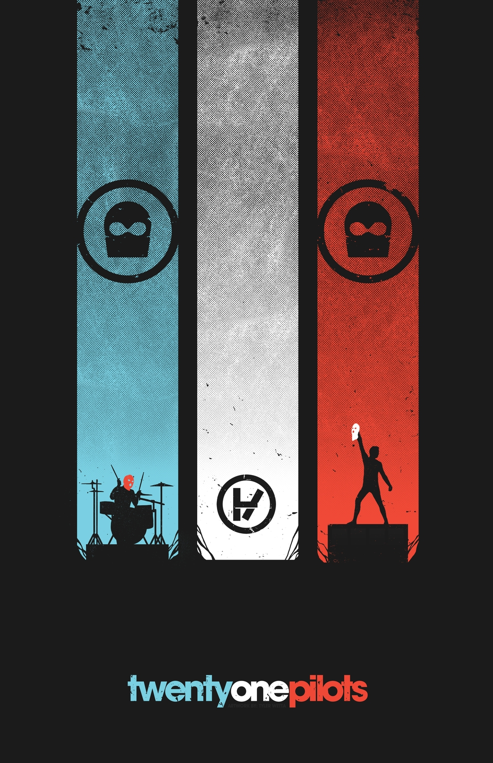 cool ass poster for tØp | music | pinterest | pilot, gorillaz and lp