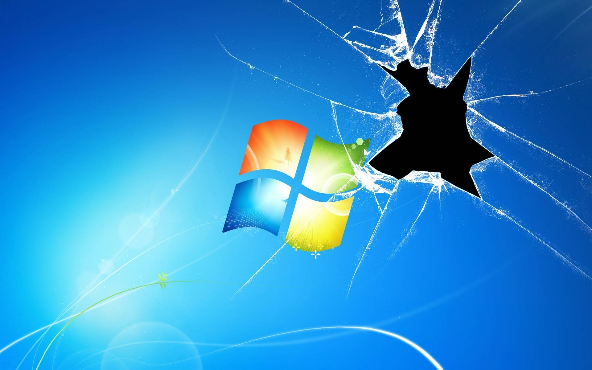 cracked screen windows exclusive hd wallpapers #2261 | wallpapers
