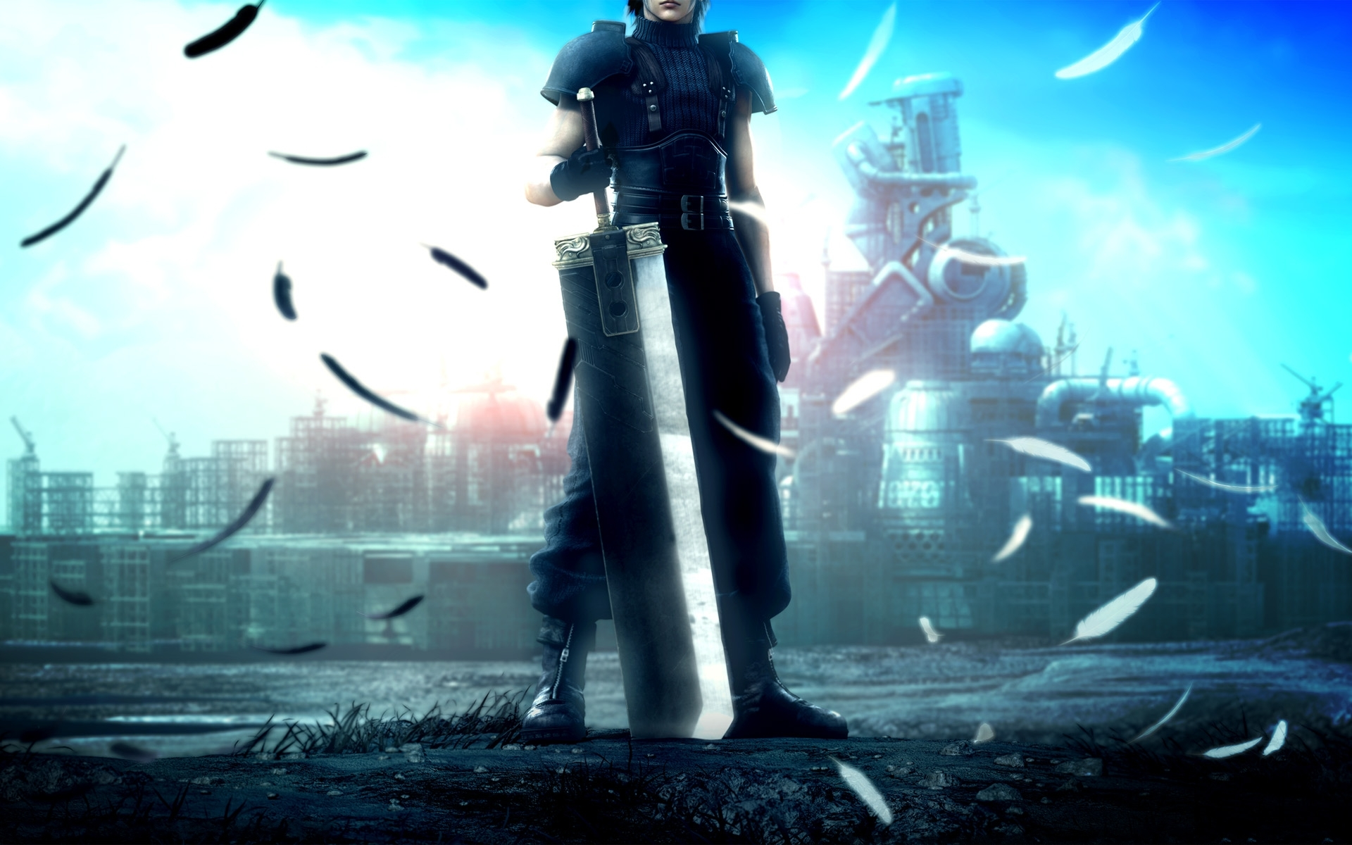 crisis core: final fantasy vii full hd fond d'écran and arrière-plan