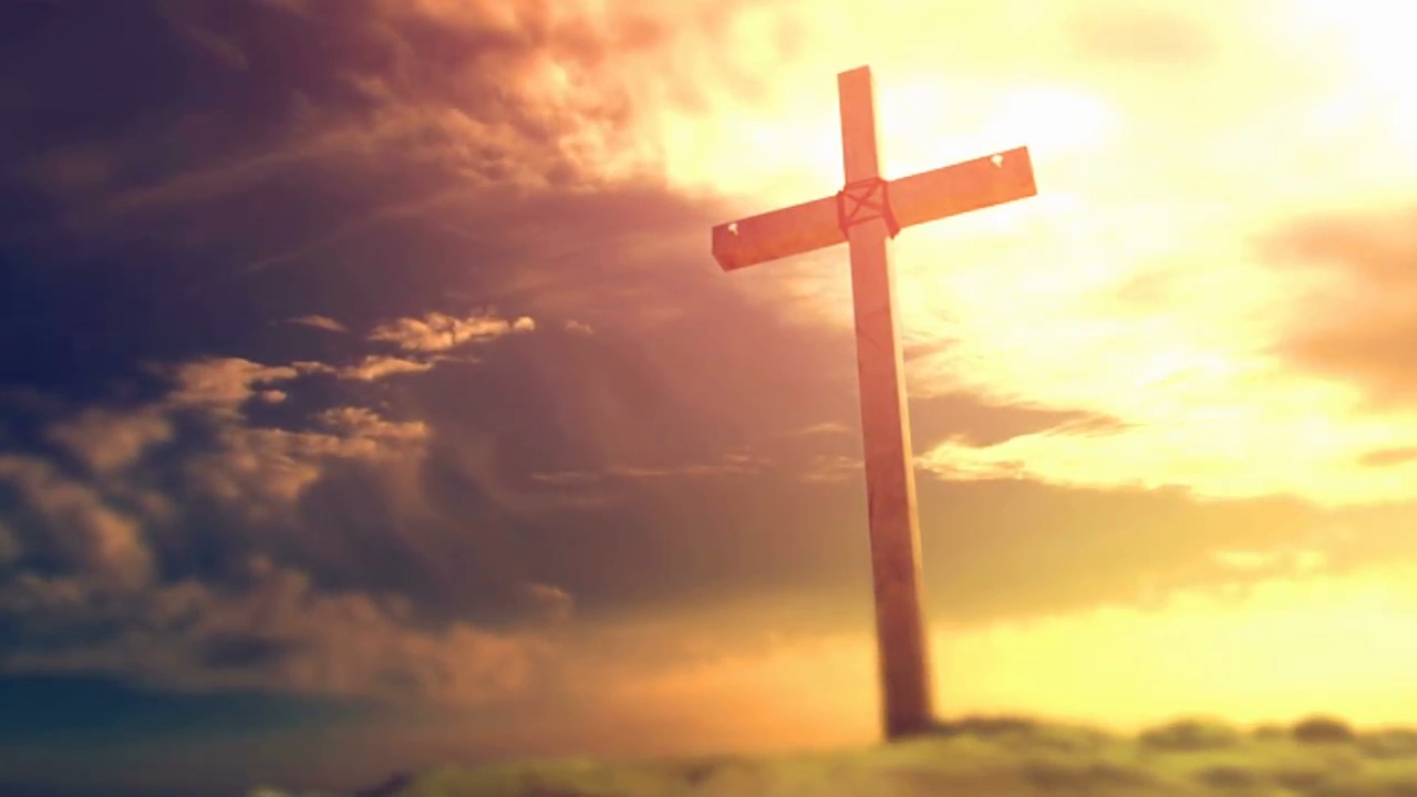 crucifixion cross background stock video footage - videoblocks