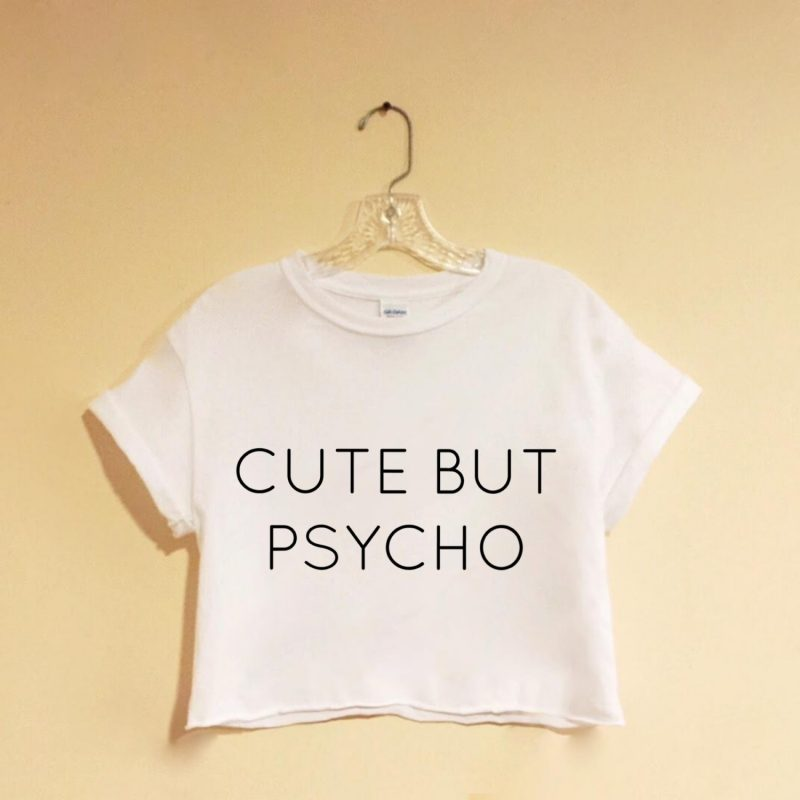 10 Best Cute Hipster Tumblr Pictures FULL HD 1920×1080 For PC Desktop 2018 free download cute but psycho white crop top screen printed hipster tumblr 800x800