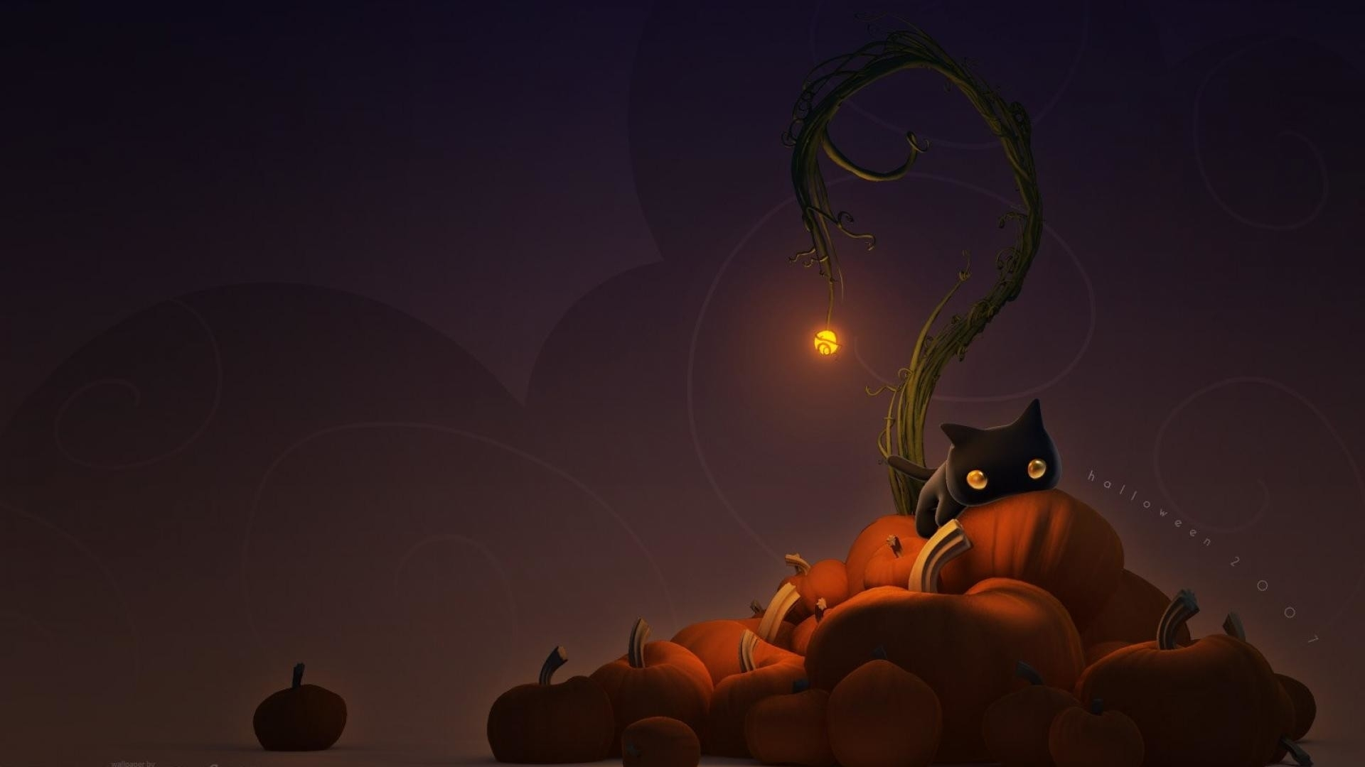 cute cat halloween wallpaper (65+ images)