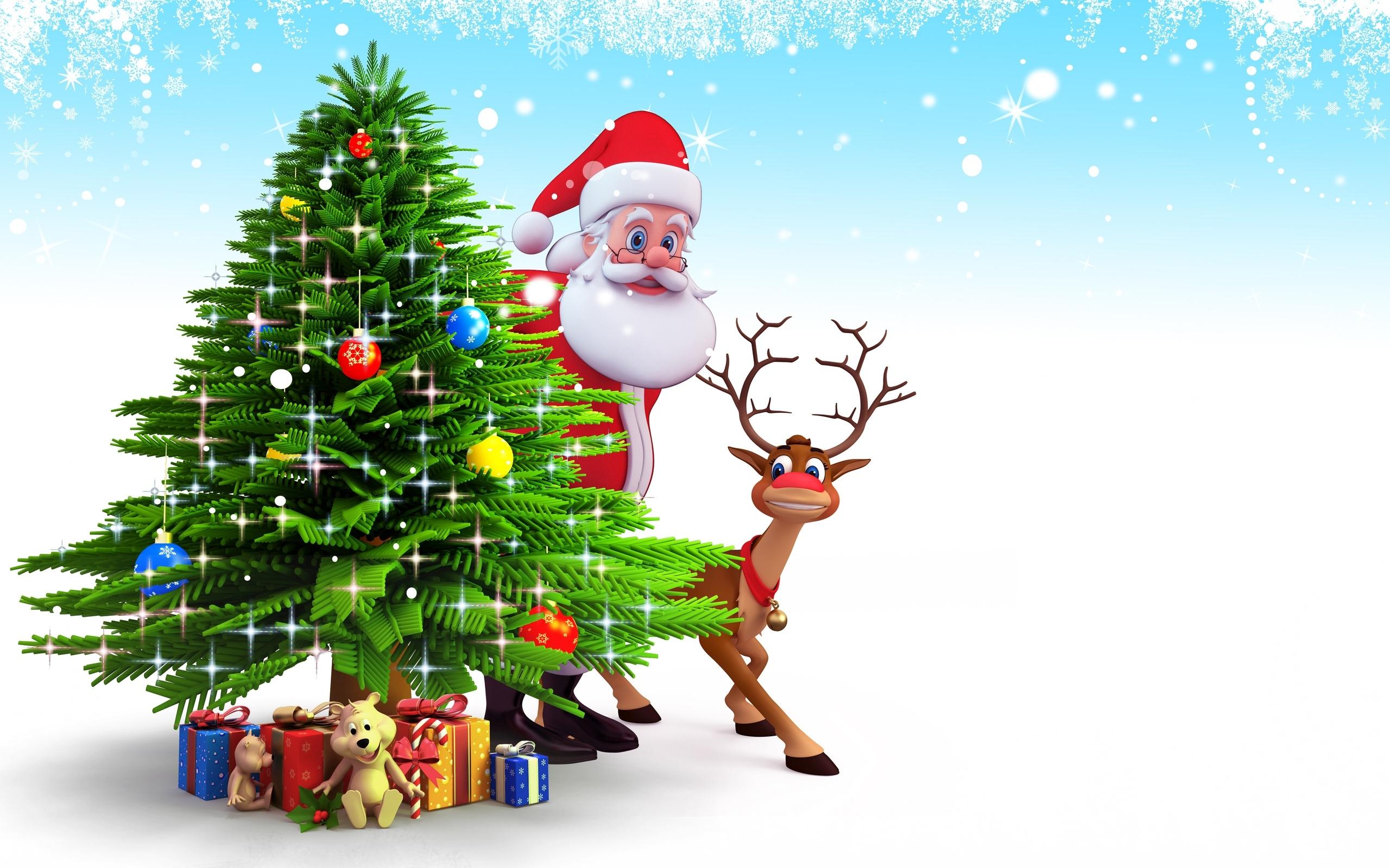 cute n beautiful santa claus wallpaper for your desktop and mobile phone
