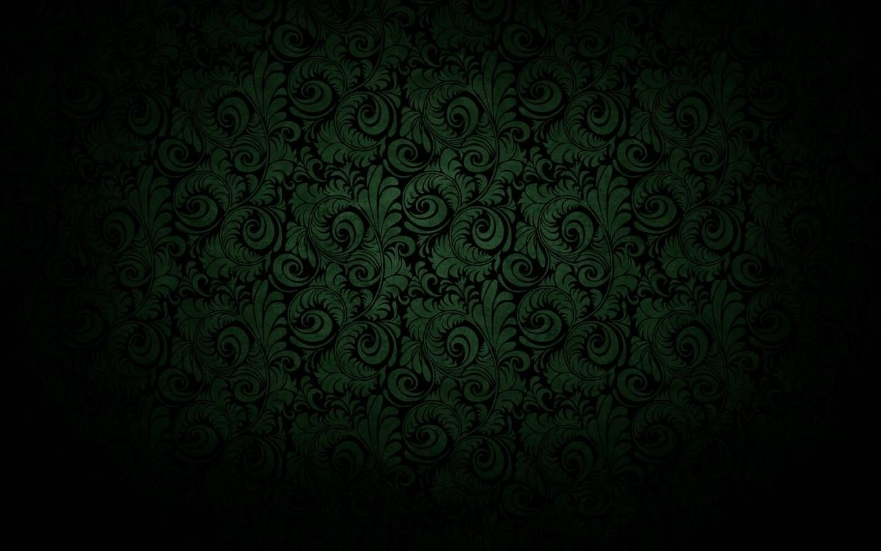 dark black curved bloom green wallpaper"
