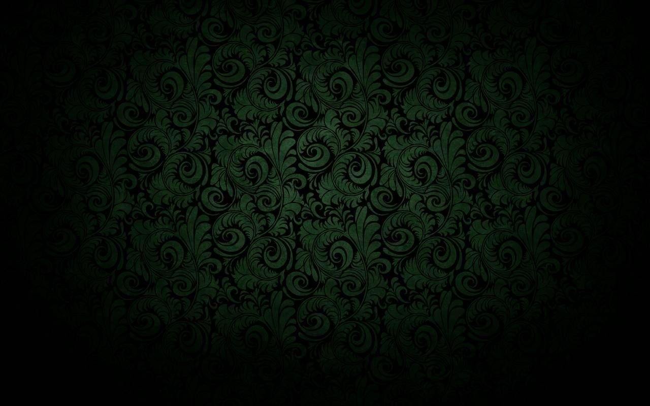 "dark black curved bloom green wallpaper"" | color me dark | pinterest"
