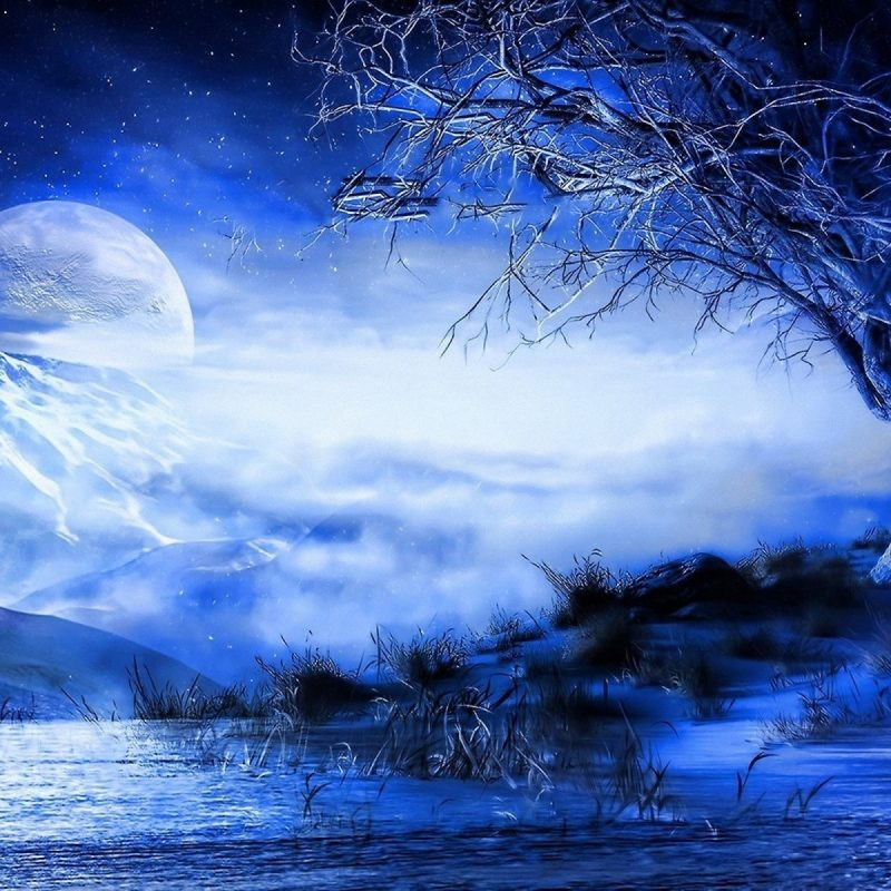 10 Best Anime Blue Moon Wallpaper FULL HD 1080p For PC Background 2018 Free Download Dark