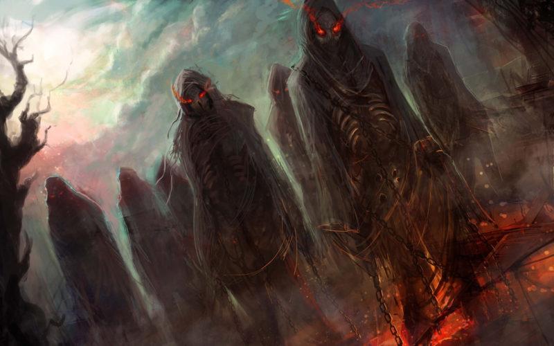 10 Best Hell Art Wallpaper FULL HD 1920×1080 For PC Desktop 2018 free download dark horror evil fantasy art demons hell skeletons skulls eyes glow 800x500
