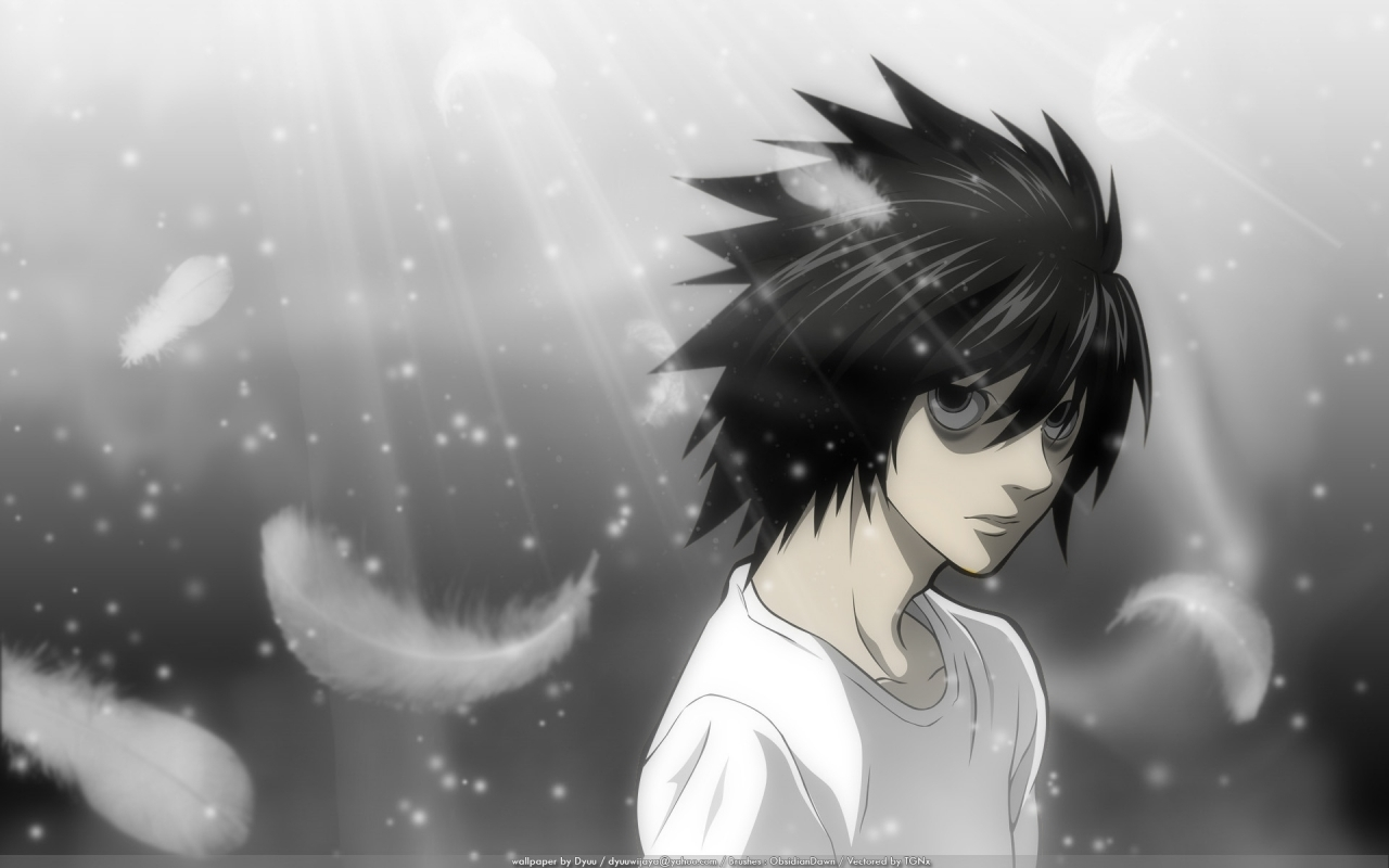death note l - wallpaper. | death note | pinterest