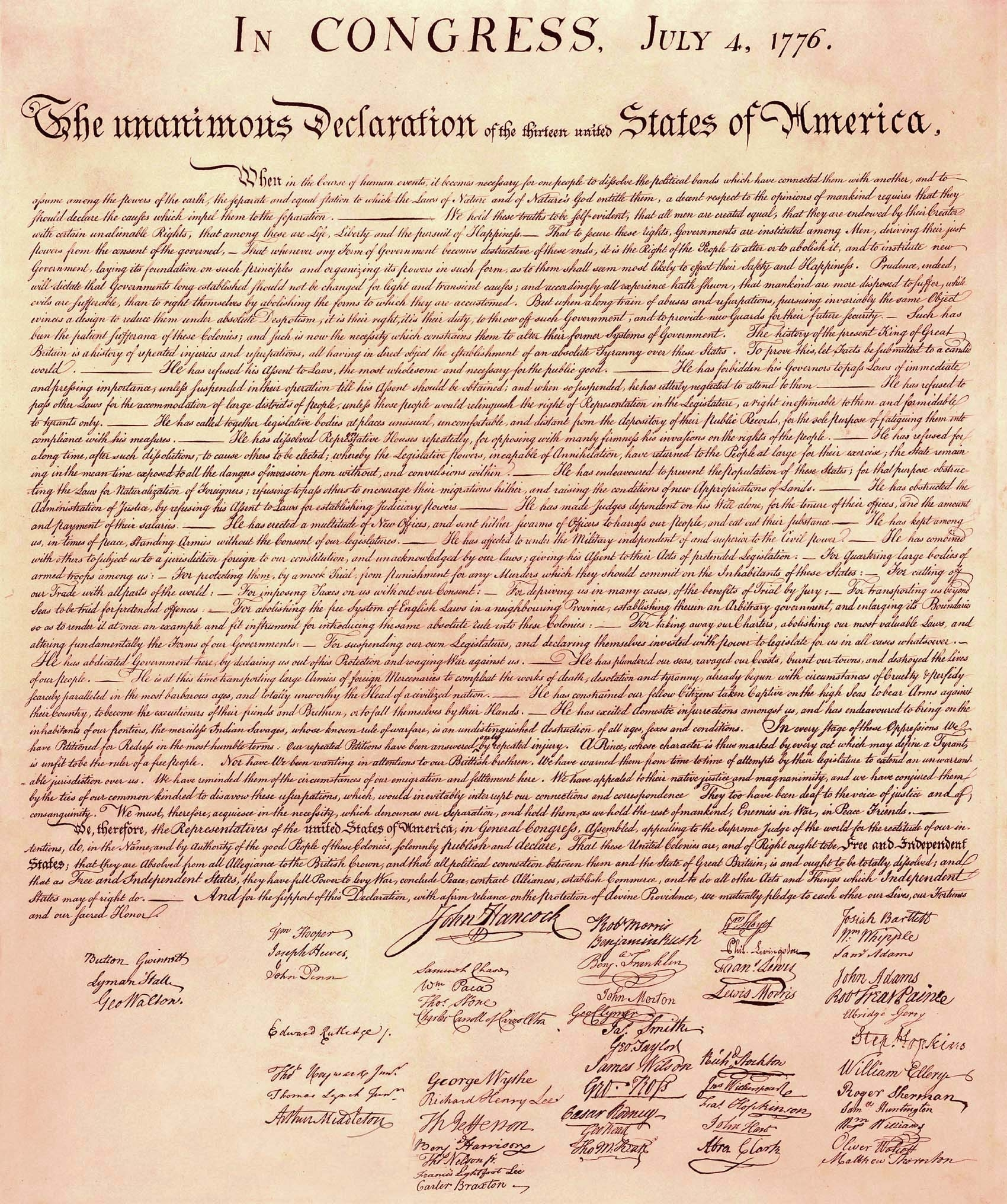 declaration of independence high resolution picture