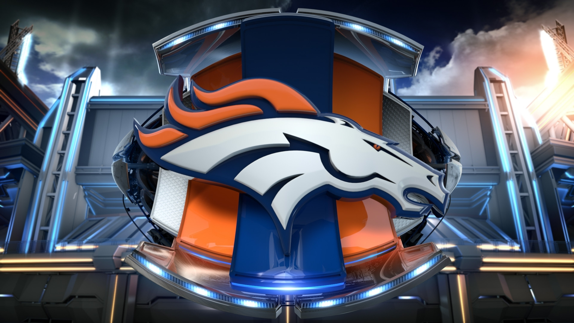 denver broncos 3d logo wallpaper hd. - media file | pixelstalk
