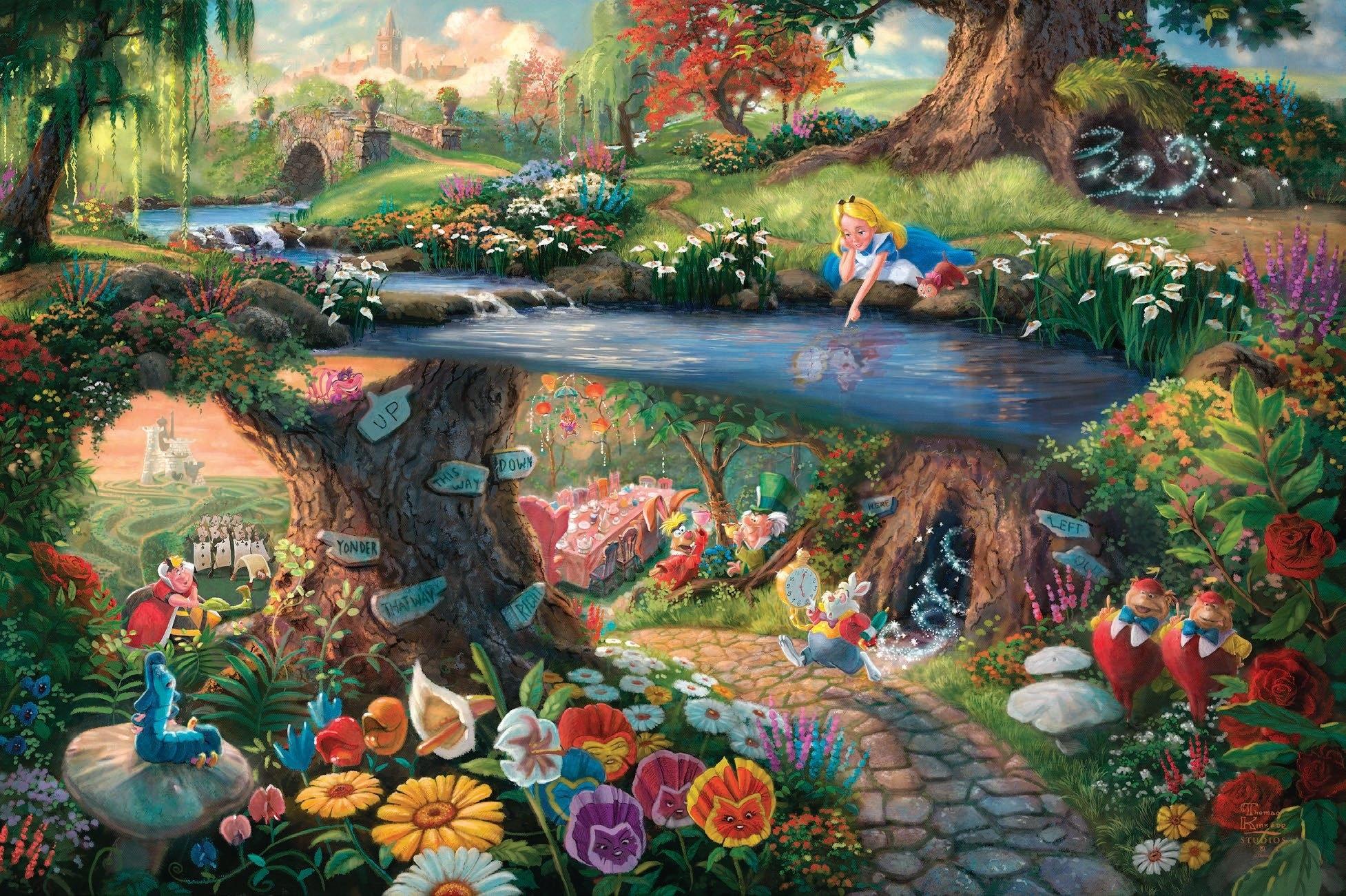desktop alice in wonderland hd backgrounds with cartoon wallpaper