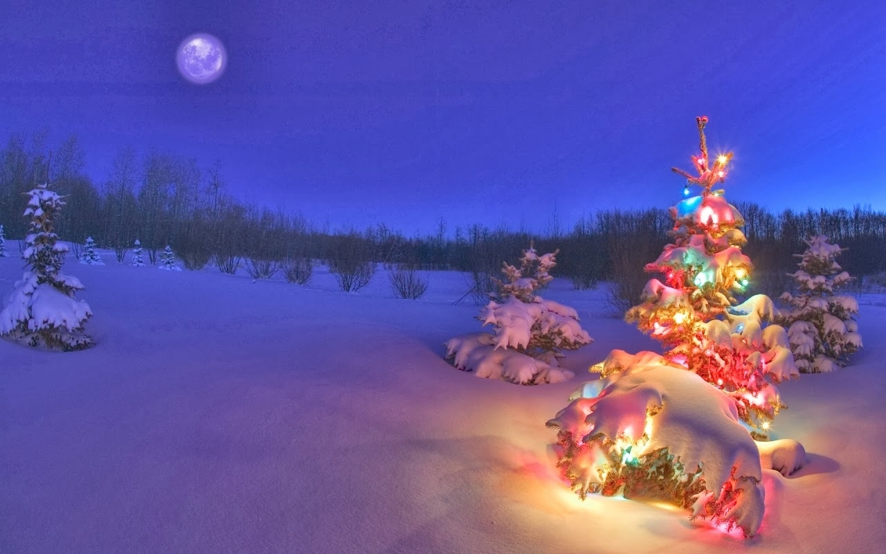desktop backgrounds 4u: christmas scenes