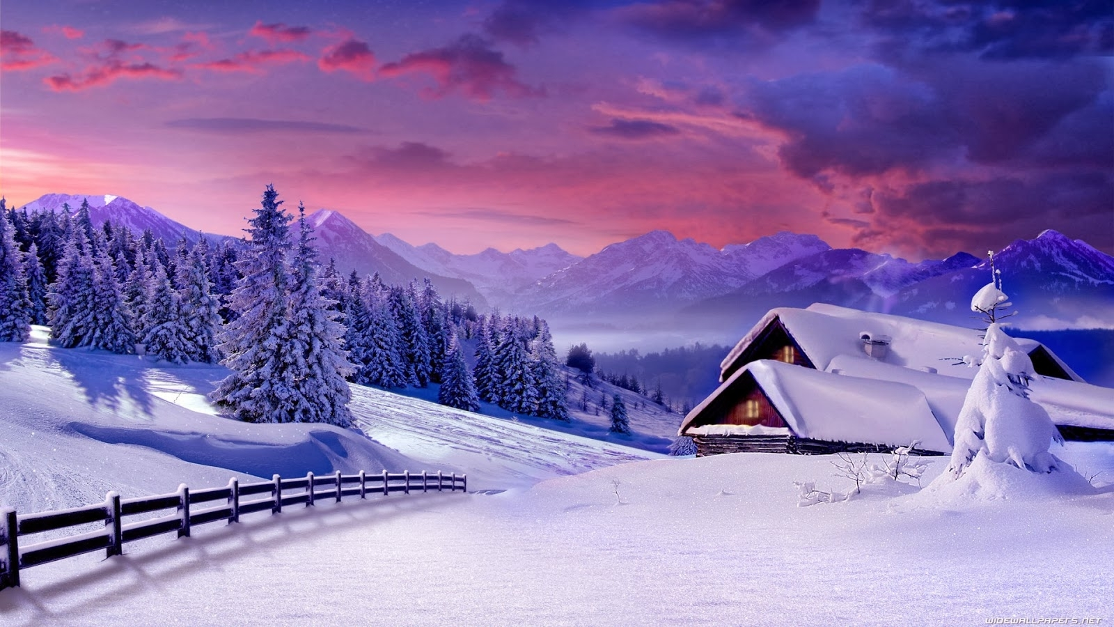 desktop backgrounds 4u: winter scenes