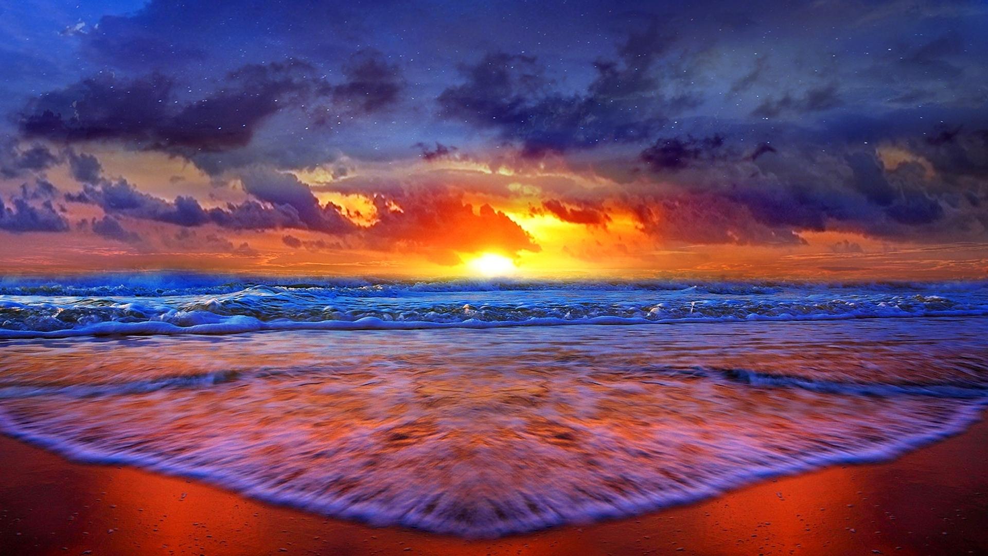 desktop backgrounds beach sunset wallpaper hd - media file