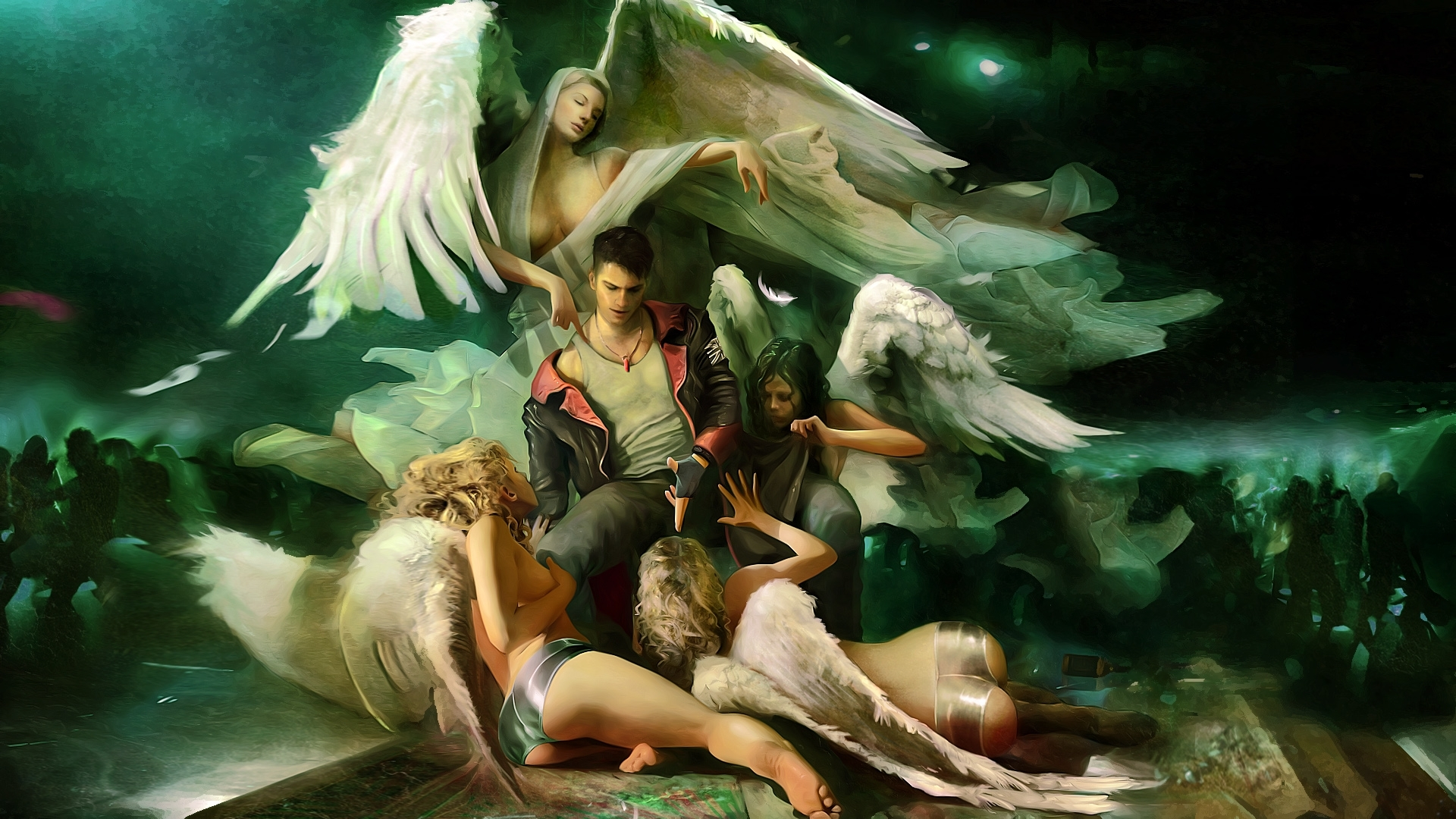devil may cry angels wallpaper