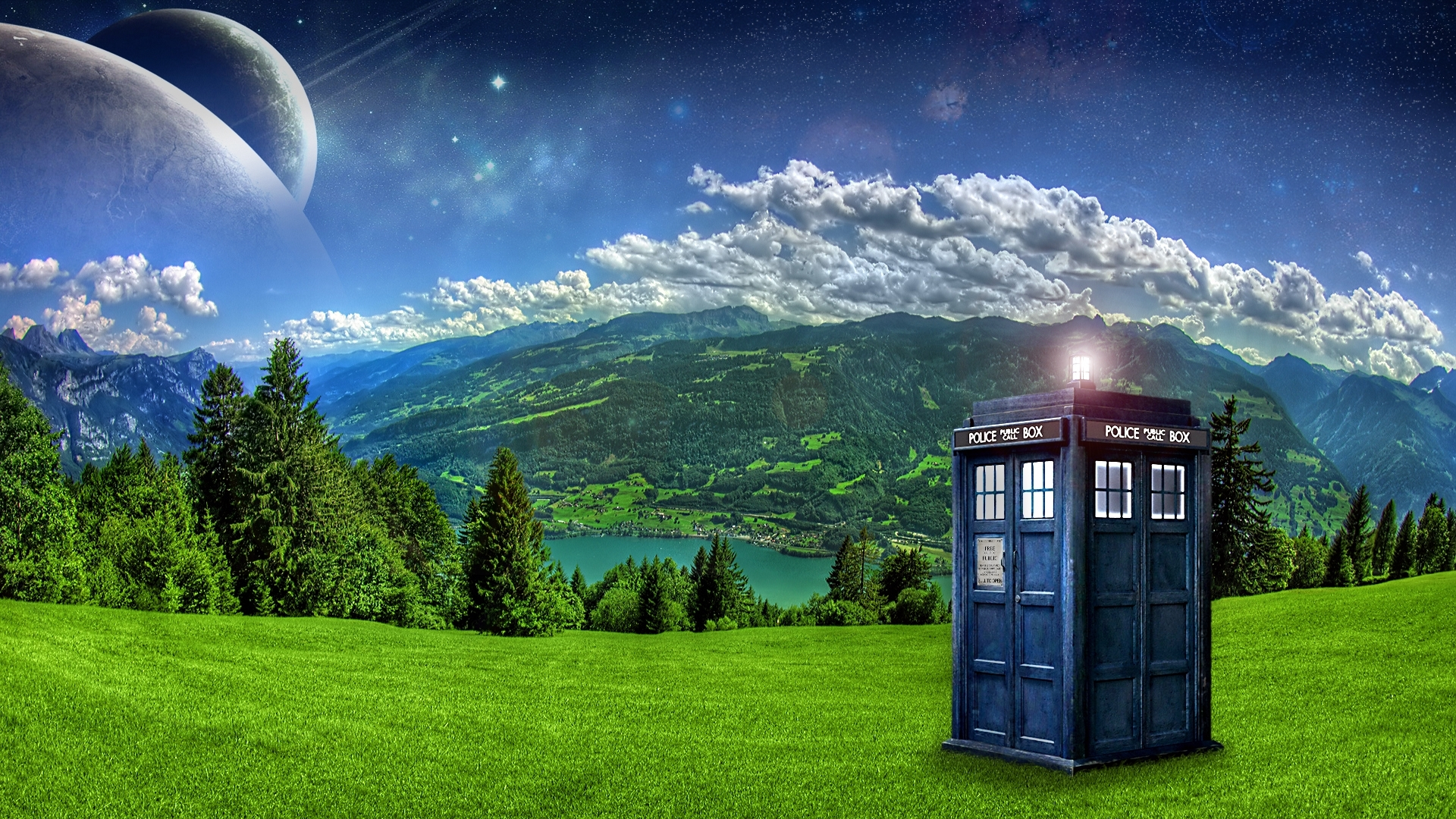 doctor who, tardis, landscapes :: wallpapers
