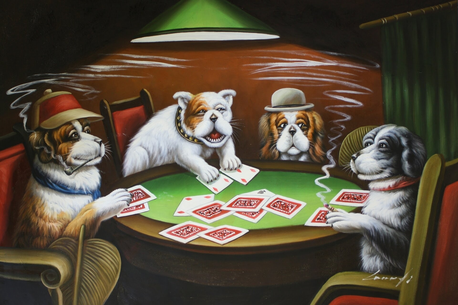 dogs playing poker, a vr to bcp81 - youtube