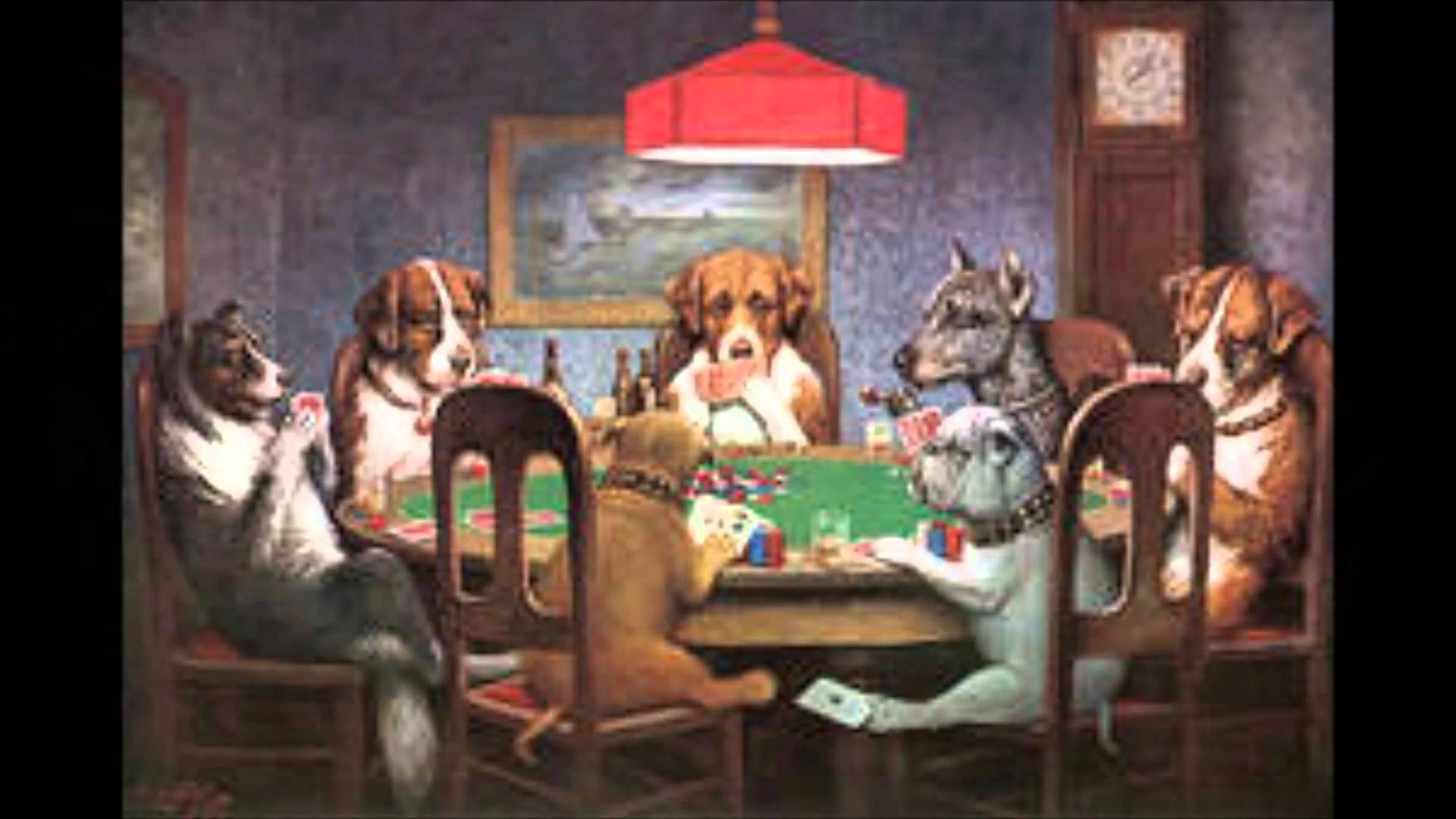 dogs playing poker (joke painting of the week) - youtube