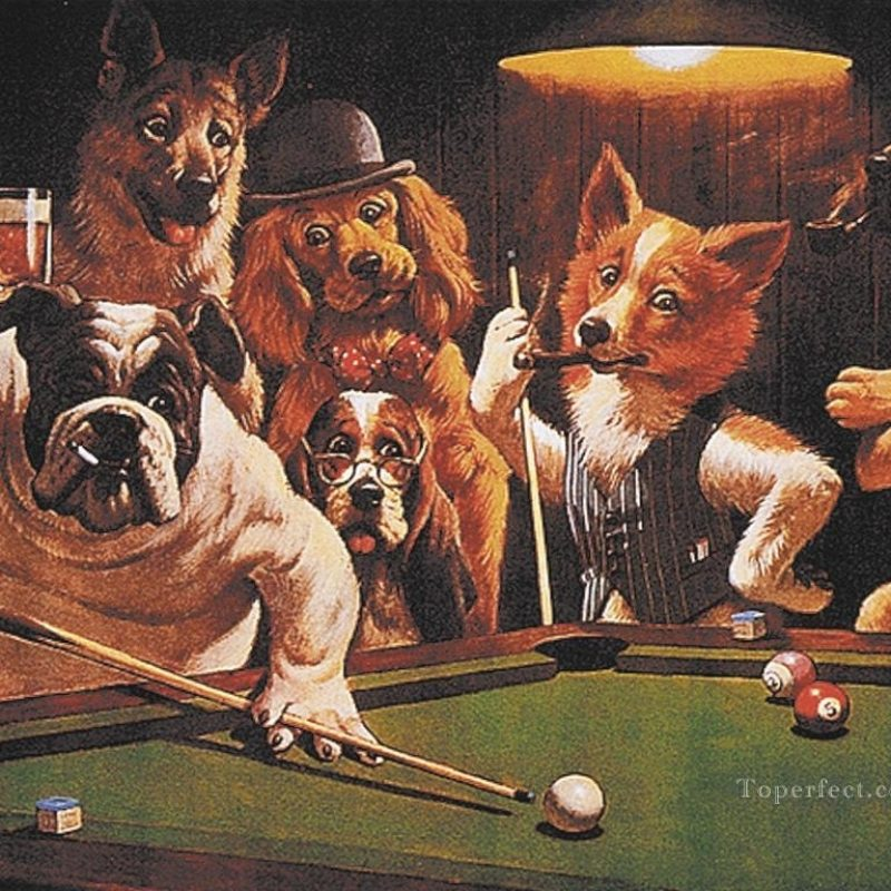 10 New Pictures Of Dogs Playing Cards FULL HD 1080p For PC Desktop 2018 free download dogs playing poker painting art oil paintings 800x800