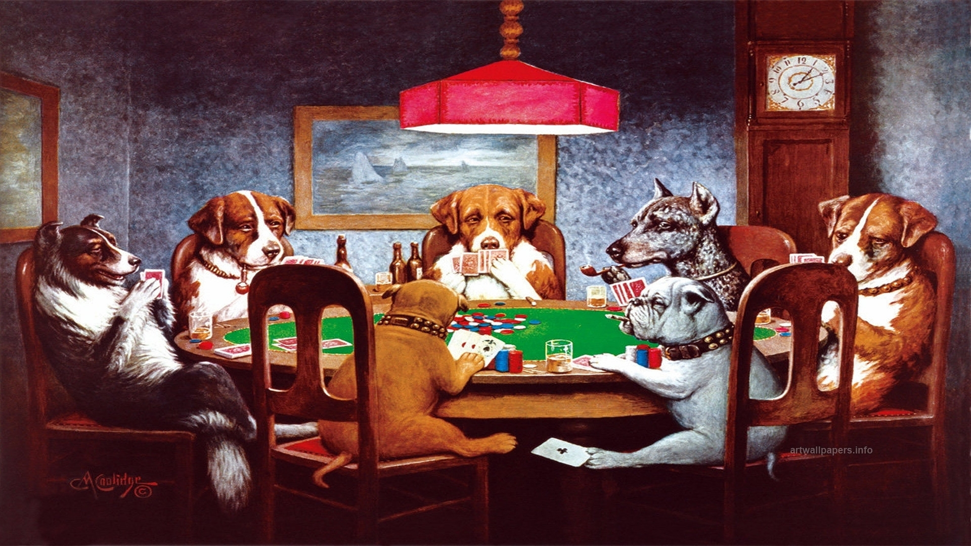 dogs playing poker wallpaper (62+ images)