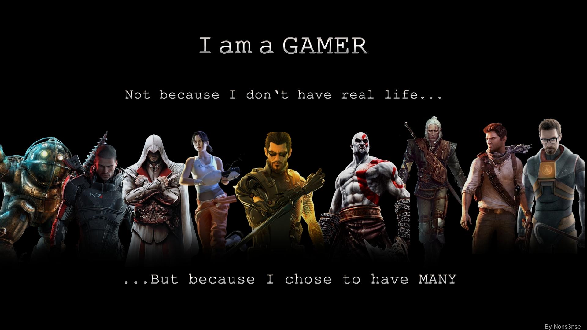 download am a gamer 1920x1080 hd wallpaper #gaming #gamer