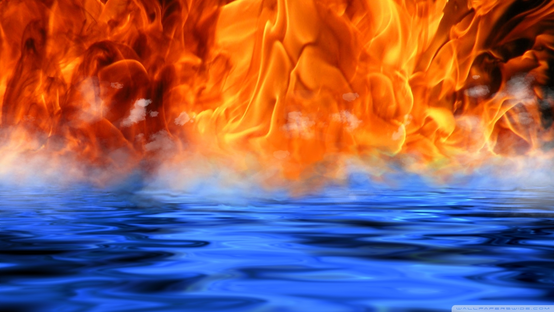 download fire water meet wallpaper 1920x1080 | wallpoper #442604