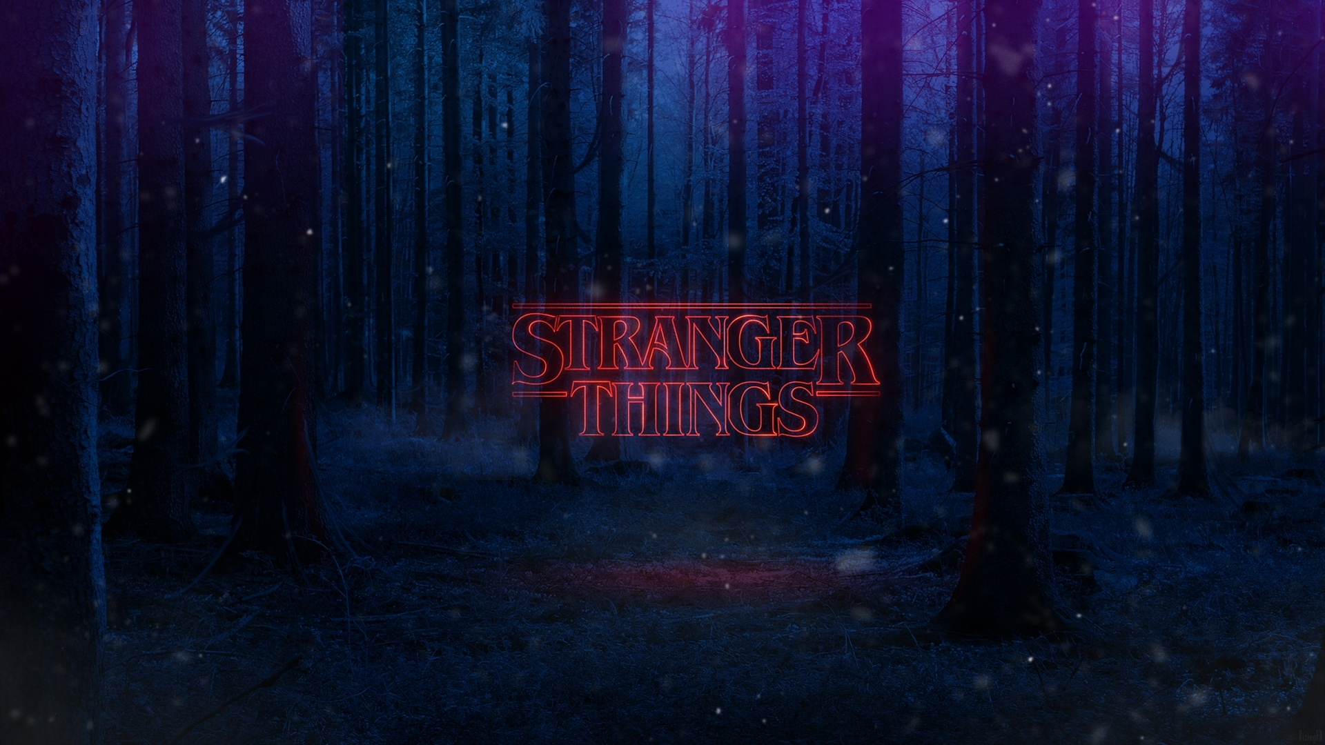 download stranger things text poster 1280x800 resolution, full hd