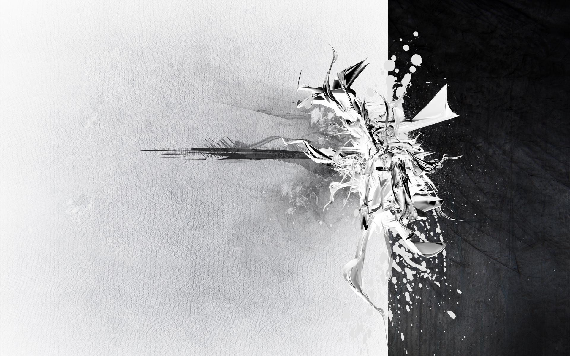 download the white and black abstract wallpaper, white and black
